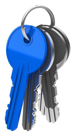 Schlüsselbund blauer Schlüssel